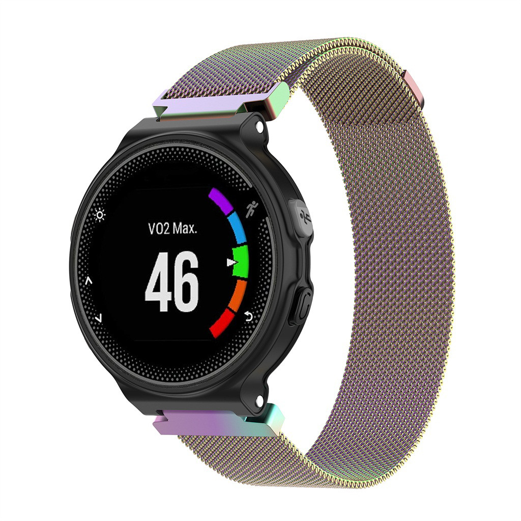 2019 Milanese <font><b>Magnetic</b></font> Watch Band <font><b>Strap</b></font> Two Sizes For <font><b>Garmin</b></font> <font><b>Forerunner</b></font> Compatible 220 230 <font><b>235</b></font> 630 620 735 Stainless Steel Bands image