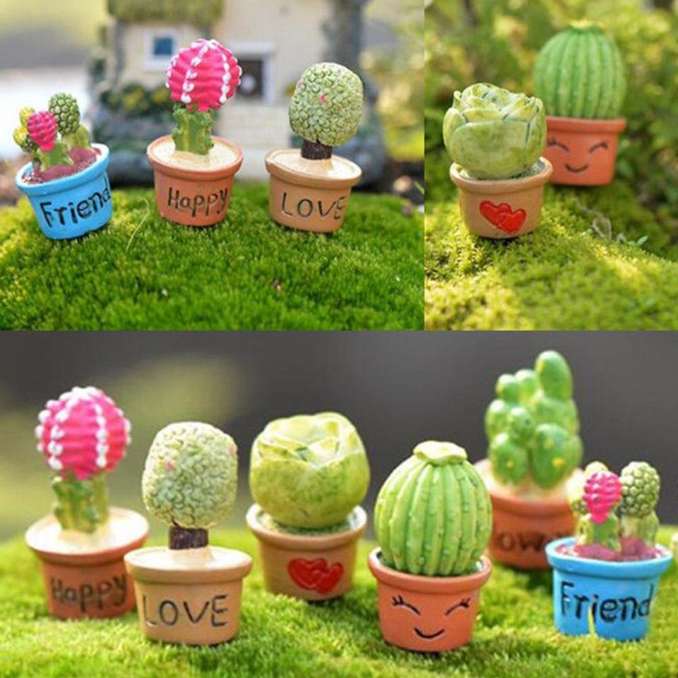 Potted Artificial Plant Flower Cactus