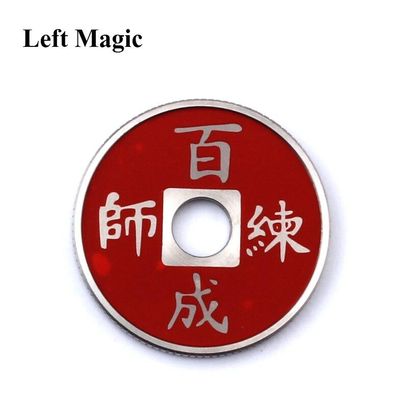 Left Magic- 1 juego Chinese Coin Color Change Trucos de magia mental - Juguetes clásicos - foto 6