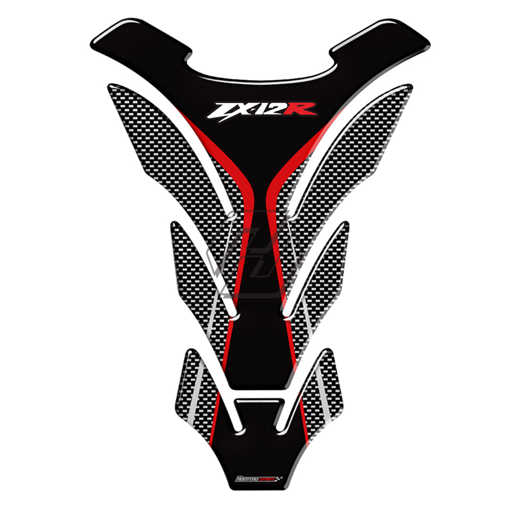 3D Motorcycle Tank Pad Protector Decal Stickers Case For Kawasaki NINJA ZX12R ZX-12R Tank