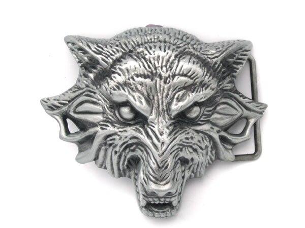 Western Wolf Moon Men's Alloy Leather Belt Buckle Vintage Cowboy Buckle New SP