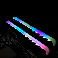Newest RGB RAMs Shell Glowing Vest General Common Light Bar Memory Radiator Desktop DIY Decorations Monochrome