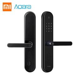 2018 Xiaomi Mijia Aqara S2 inteligentny zamek do drzwi z czytnikiem linii papilarnych cyfrowy ekran dotykowy Keyless blokada inteligentnego sterowania App domu z zestawem śrub 1