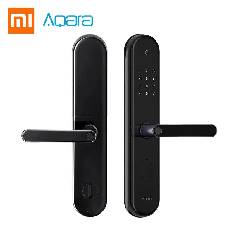 2018 Xiaomi Mijia Aqara S2 Smart Serrure de Porte D'empreinte Digitale Numérique Écran Tactile Sans Clé Maison Intelligente Serrure App Contrôle Avec Vis kit