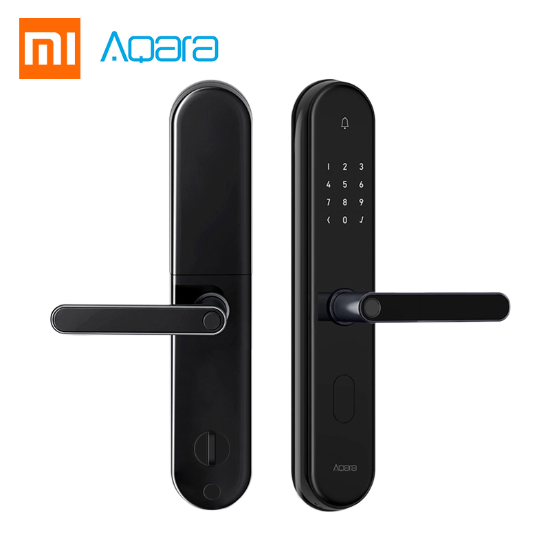 2018 Xiaomi Mijia Aqara S2 serrure de porte intelligente d'empreintes digitales numérique écran tactile serrure sans clé Smart Home App contrôle avec Kit de vis
