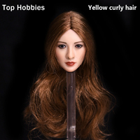 Yellow Curly Hair 1 6 Sexy Asian Beauty Star King Sweet Liu Yan Head Sculpt For
