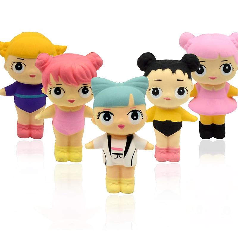 24pcs rare squishy 6 styles kawaii surprise girl 11 5cm 7cm slow rising Simulation PU toy