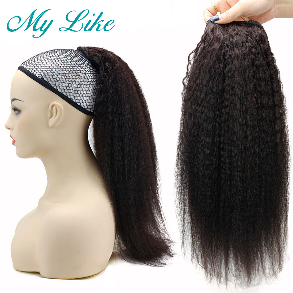 kinky straight hair ponytail 3