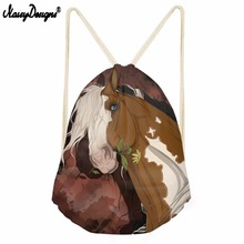 Noisydesigns colour befree Horse for Men Drawstring goose Bags Portable Backpacks Casual String Shoes Pocket Travel Accessories