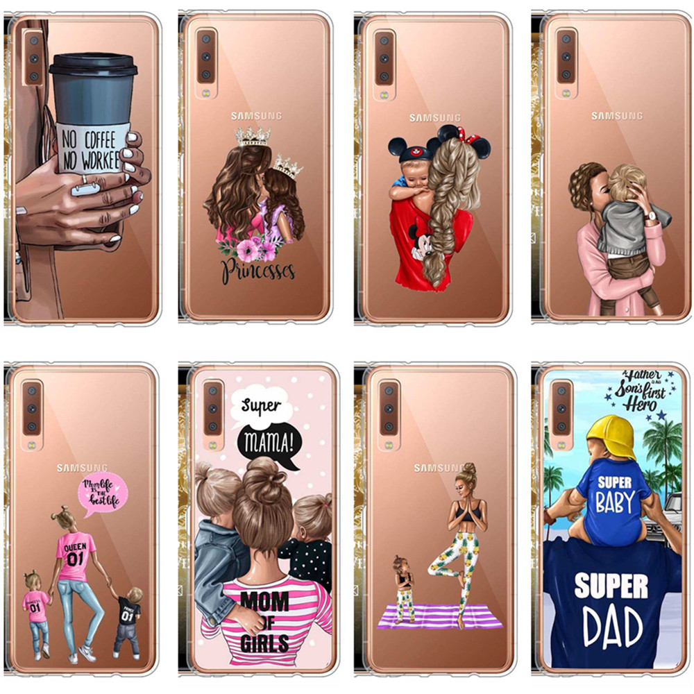 2019 Fashion Fashion Black Brown Hair Baby Mom Girl Queen 01 Woman Phone Cases For Samsung S8 S9 Plus A6 A6plus A8 A8plus 2018 A7 2018 A750 Latest Technology