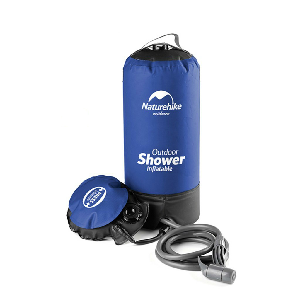 11L PVC Outdoor Inflatable Shower Pressure Shower Water Bag Portable Camping Shower Water Tank