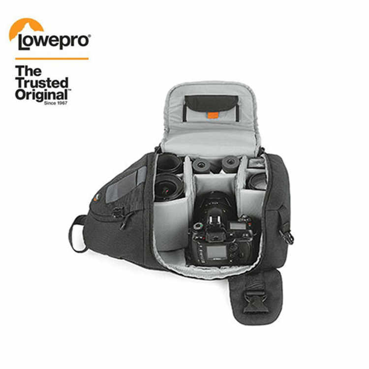 Fast Shipping Genuine Lowepro Slingshot 200 Aw Dslr Camera Photo Sling Shoulder Bag With All Weather Cover Aliexpress