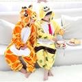 kid Winter Giraffe Animal Halloween Cosplay Costume children Onesie Spongebob flannel animal pajamas sleepwear
