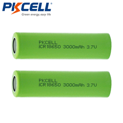 2PCS/PKCELL 3000mAh Capacity 18650 Battery 3.7V Li-ion Rechargeable 18650 Battery