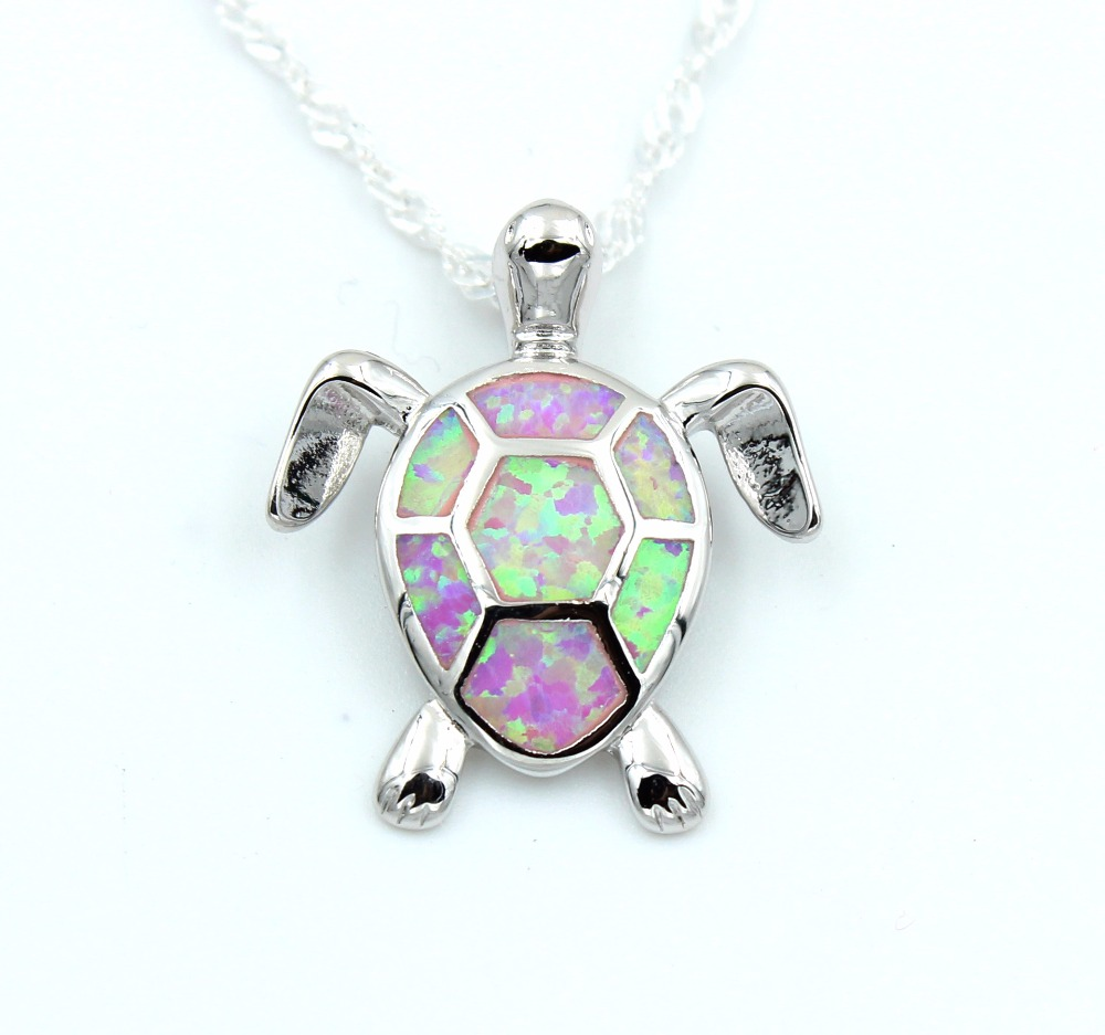 Cute blue fire opal sea turtle design pendant necklace for women in cute blue fire opal sea turtle design pendant necklace for women in chain necklaces from jewelry accessories on aliexpress alibaba group aloadofball Gallery