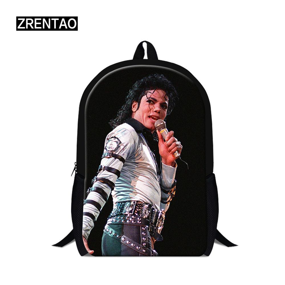 MJ Michael Jackson Printing Backpack School Bags For Teenage Boy Casual Daypack Women Backpacks Girls Travel Bag Female MochilaMJ Michael Jackson Printing Backpack School Bags For Teenage Boy Casual Daypack Women Backpacks Girls Travel Bag Female Mochila