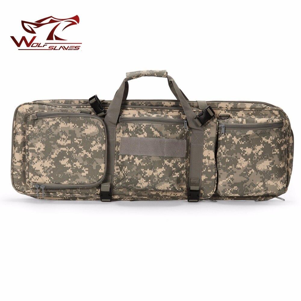 85CM tactique lourd glisser portant double mallette à fusil pistolet sac pour M4 chasse Airsoft militaire épaule poche sac à dos de pêche - 6