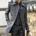 Watch ! New arrival novelty high quality winter men's woolen coat medium-long thickening woolen slim Handsome clothing outerwear