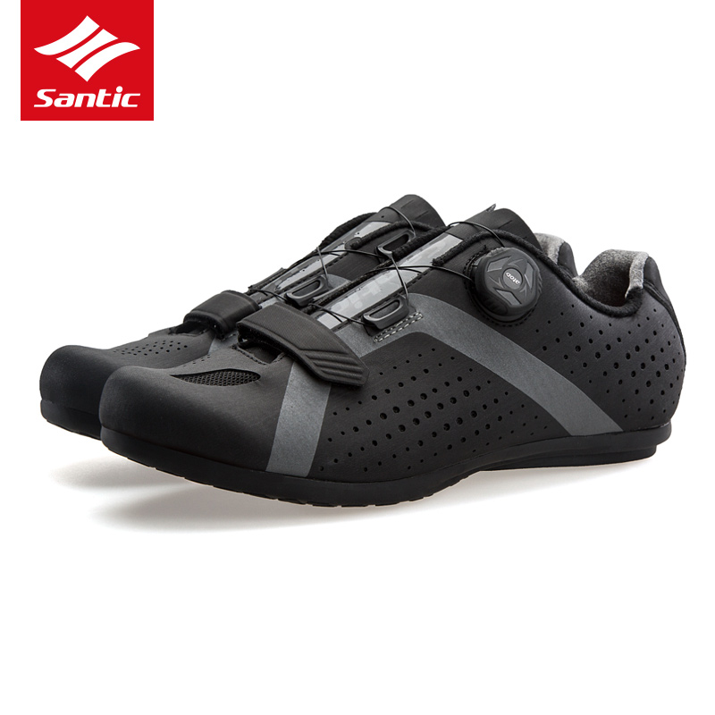 все цены на Santic Men Pro Cycling Shoes 2018 New Tour de France Road Bike Shoes Rubber Anti-slip Unlocked Bicycle Shoes Zapatillas Ciclismo онлайн
