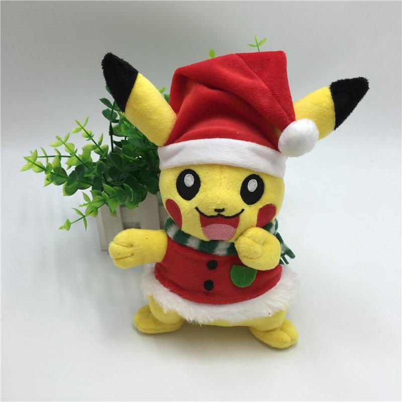 Cute 20cm Pikachu Plush Toys for Children Santa Claus Cosplay Toys Pikachu Soft Stuffed Plush Doll Baby Kids Toy Christmas Gift santa clause figure model lovely plush doll soft cute stuffed toy 11 8 inch
