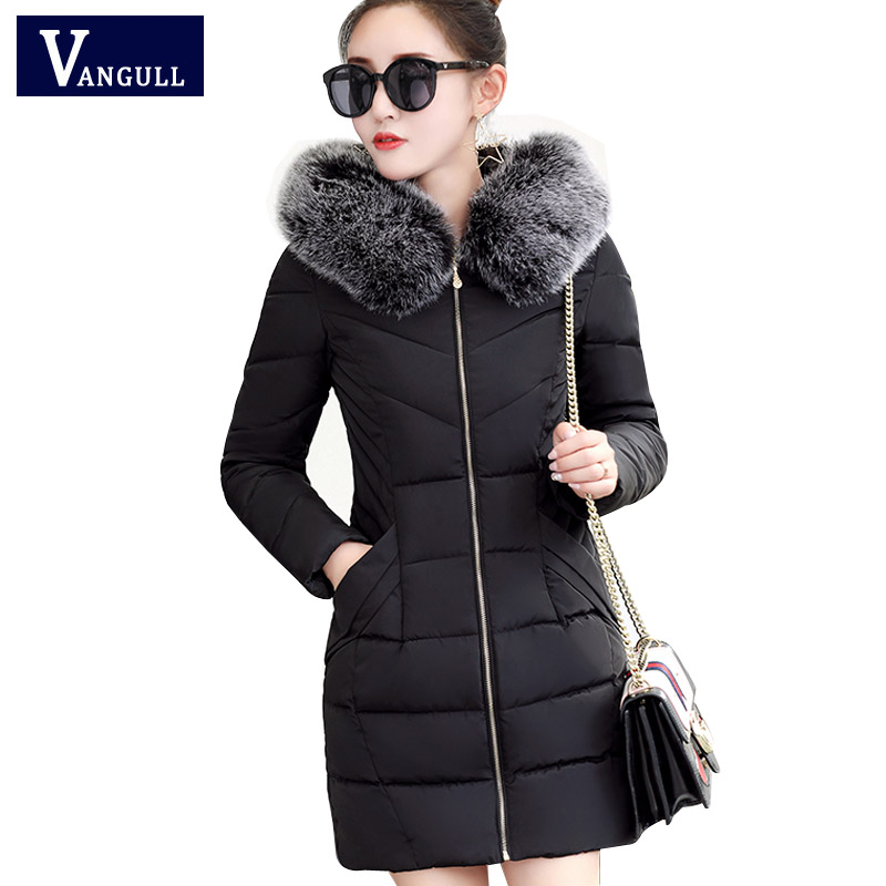 Winter Jacket 2017 New Women Long Slim Large Fur Collar Hoode Women Down Cotton Jacket Thick Female Wadded Jacket Plus size XXXL 2017 new winter jacket women long slim large fur collar hooded down cotton parkas thick female wadded coat plus size 4xl cm1373