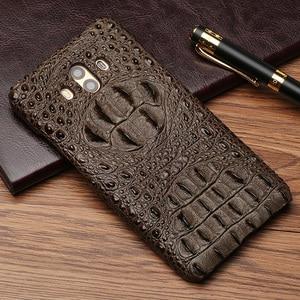 Image 2 - Wangcangli Lederen telefoon case voor Huawei Mate 10 Krokodil schedel patroon Half pack telefoon cover telefoon bescherming case