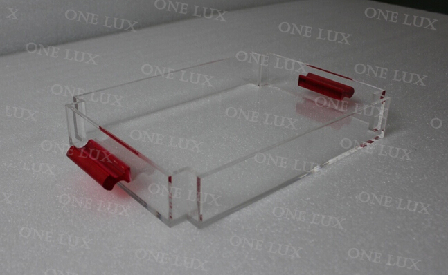 ONE LUX All Purpose Used Acrylic Serving Trays Perspex Candy Tray Lucite fruit Tray