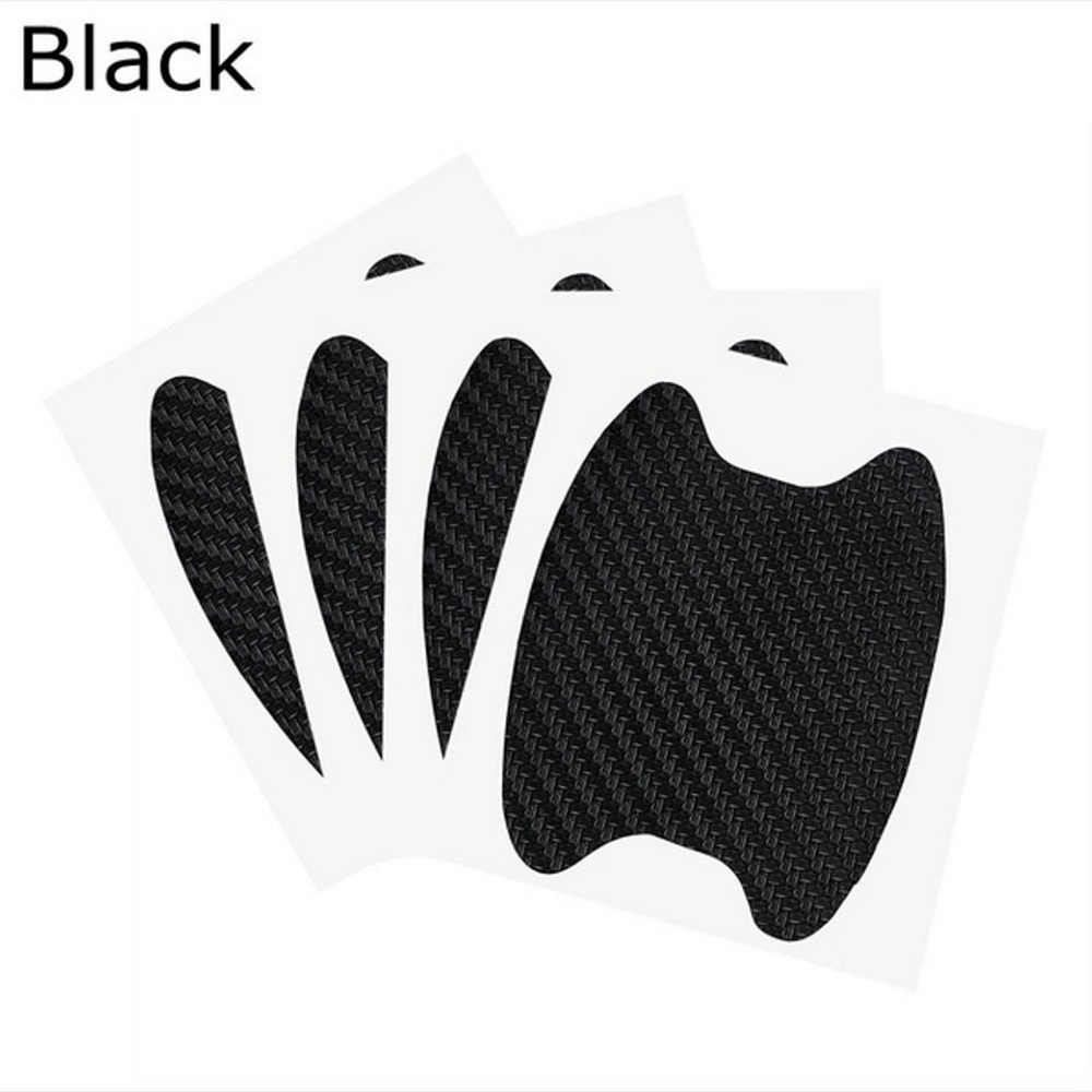 Image 4 - 4pcs/lot Anti Scratch Car Sticker Carbon Fiber Door Paint Protector Auto Handle Vinyl Car Decals Car Styling Accessories-in Car Stickers from Automobiles & Motorcycles