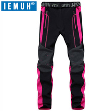 IEMUH Outdoor Softech Traverse Pants Women Softshell Hiking Pants Waterproof Windproof Thermal For Hiking Camping Ski For winter