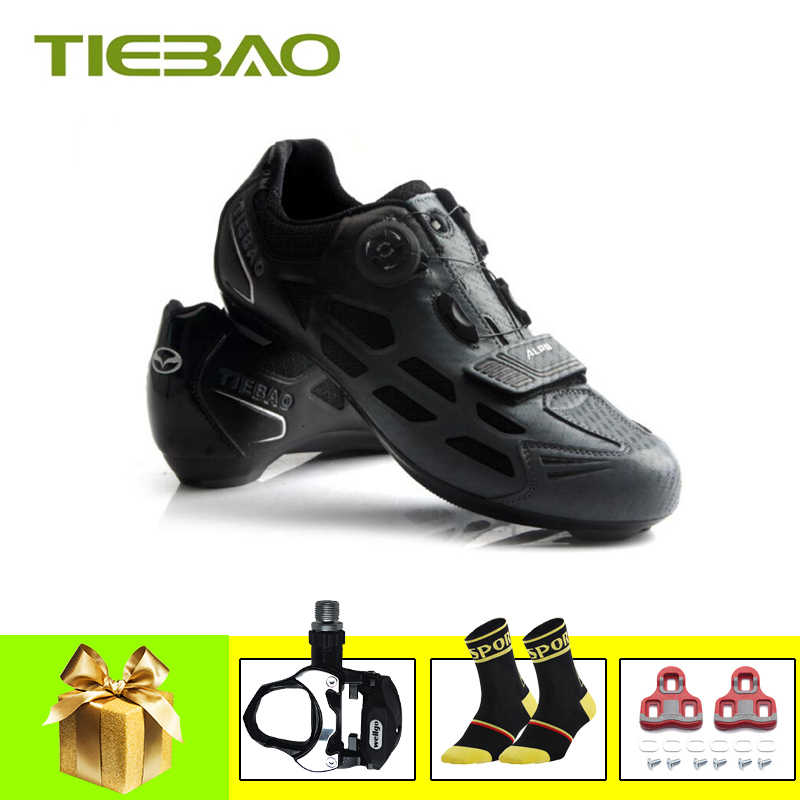 Tiebao road bike shoeS sapatilha ciclismo 2019 professional road bicycle shoes self-locking Spinning SPD-SL cycling sneakers
