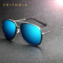 Veithdia hombres de la marca de gafas de sol polarizadas espejo gafas de sol de moda masculina gafas de revestimiento de color masculino para los hombres/de las mujeres 2725