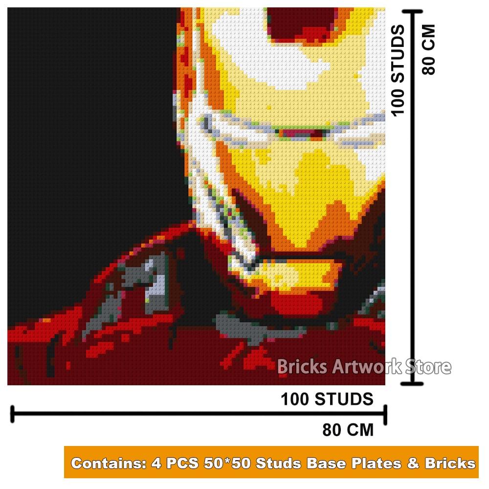 Ury MOC SET 5000+ հատ Սուպեր հերոսներ Iron Man - Կառուցողական խաղեր - Լուսանկար 5