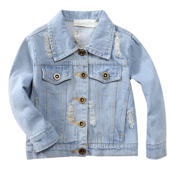 Girls Jackets Hole Cowboy Style Teens Outerwear embroidery Fashion Girls Jackets Coats Children's Clothing Kids Jean Jacket 3