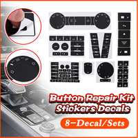 8Pcs Car Stickers For VW For Volkswagen Touareg 04-09 Decals Car Steering Wheel Windows Headlight Climate Switch Worn Button