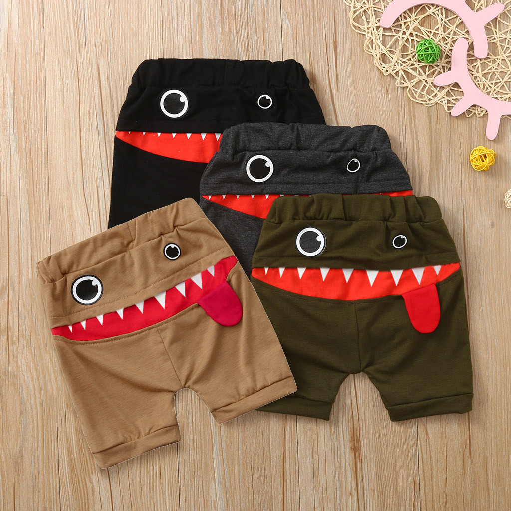 Baby Boys Girls Harem Sweatpants Elastic Shorts Kids Summer Cute Cotton PP Pants