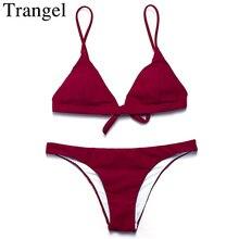 Trangel bikini brand women swimwear bikini swimsuit low waist brazilian bikini bottom Maillot De Bain Bikini set