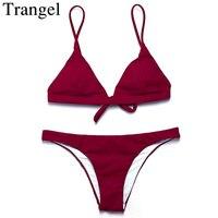 Trangel Bikini Brand Women Swimwear Bikini Swimsuit Low Waist Brazilian Bikini Bottom Maillot De Bain Bikini