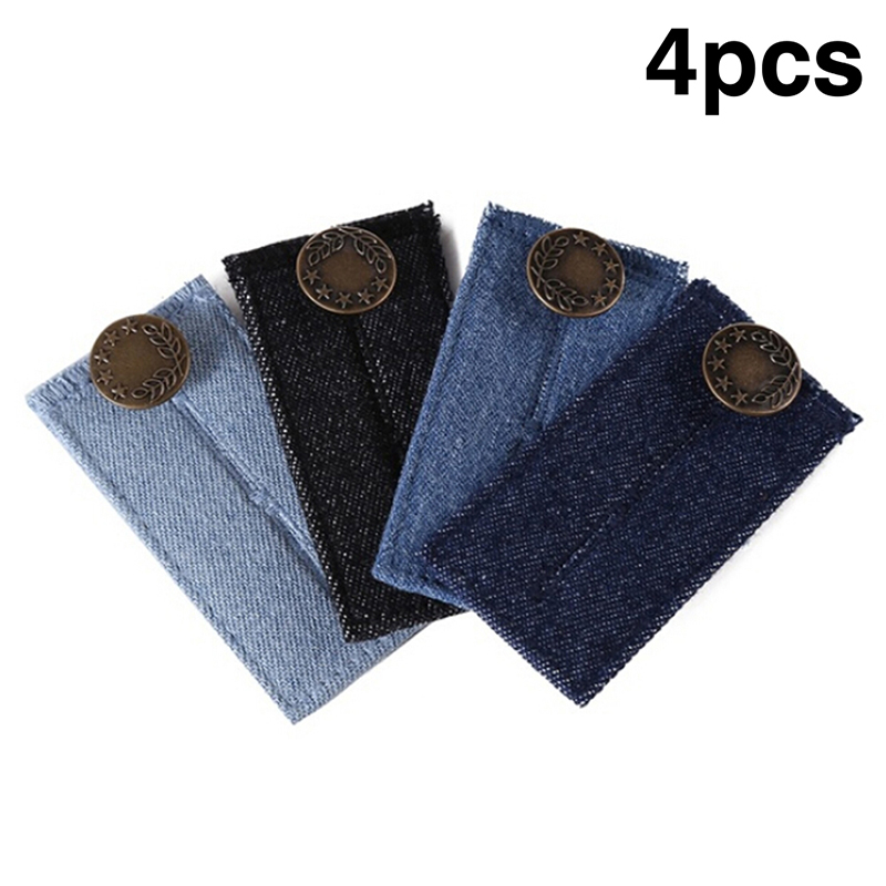 1/4Pcs Maternity Pregnancy Waistband Belt Adjustable Elastic Extender Waist With Metal Buttons Clothing Pants Accessories