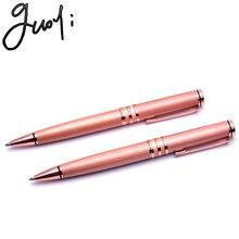 Guoyi QA8 медная розовая золотая металлическая шариковая ручка. Обучающие канцелярские принадлежности для офиса и школы, Подарочная роскошная ручка и бизнес-ручка для отелей