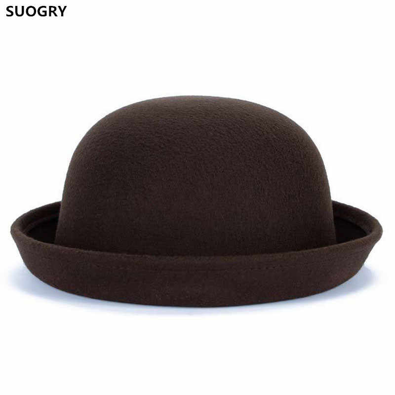 8b0bc83058666 Detail Feedback Questions about Brands SUOGRY Winter Autumn Women Ladies  Fedoras Top Jazz Hat Fashion Thickening Bowler Hats Quality Polyester  Cotton Round ...