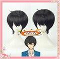Conjunto Estrelas Cavaleiros Suncos Sakuma Ritsu natural preto estilo de parágrafo cosplay anime perucas de cabelo + Cap