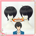 Suncos Conjunto párrafo Estrellas Caballeros Sakuma Ritsu estilo natural negro pelucas de cosplay del anime del pelo + Cap