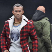 1:6 Scale Deadpool Ryan Reynolds Male Head Sculpt with Headgear Head Carved fit