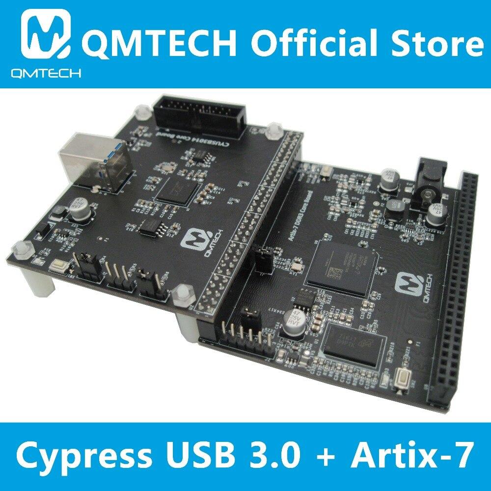 QMTECH Cypress CYUSB3014 USB 3 0 Development Board Xilinx Artix7 FPGA XC7A35T