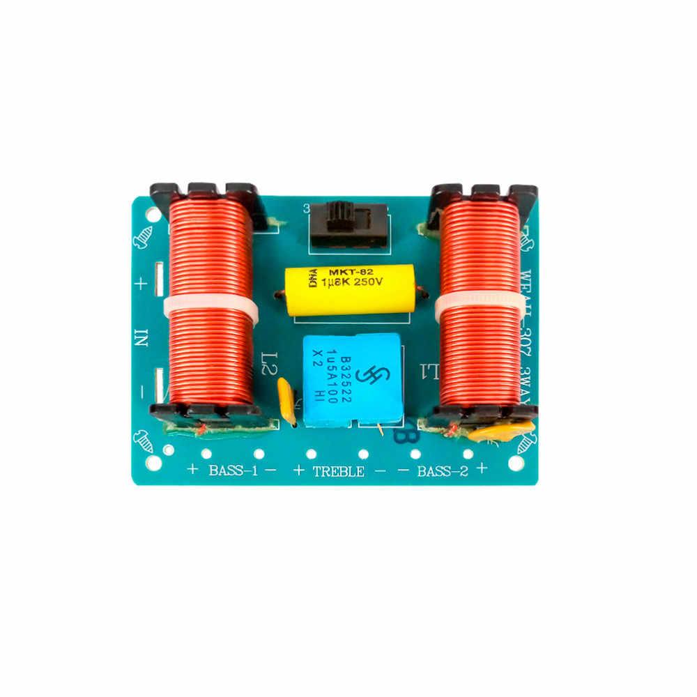 مكبر صوت Tenghong 2 قطعة 100 وات 3 طرق مكبر صوت كروس أوفر 4/8Ohm مكبر صوت ثلاثي الاتجاه متقاطع تردد الصوت ثلاثي الاتجاه