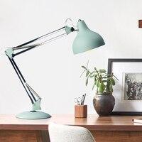 Modern minimalist table lamp adjustable joint design long arm folding protection eye E27 bulb reading bedside lighting lamp