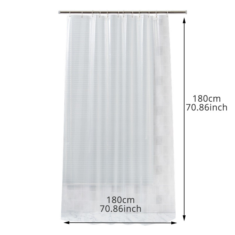 Image 2 - EVA Square Shower Curtain For Transparent Thickened Shower Curtains 3D Bathroom Curtain Moldproof Waterproof Bathroom Supplies-in Shower Curtains from Home & Garden
