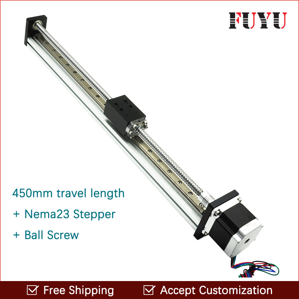 Free shipping cheaper 450mm effective movement linear guide for sliding system