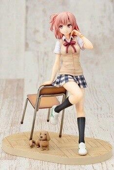 Аниме фигурка Юи Юигахама Как и ожидалось, моя школьная романтическая жизнь не удалась 20 см пвх