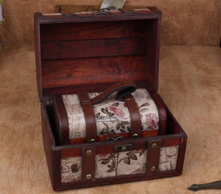 livre o navio selos retro caixas de joias caso da princesa europeia retro de madeira conjunto